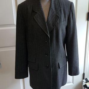 women's sz 14 long Halston blazer vintage gray
